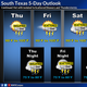 A chance of rain is possible through the weekend, according to the National Weather Service Corpus Christi.