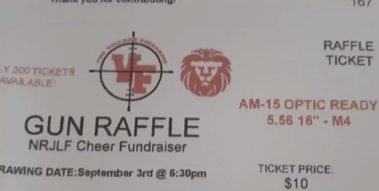 Fundraiser raffle for cheer squad asks parents to sell tickets for semi-automatic rifle