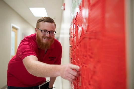 Austin Peay student Michael Hunter needed 168 hours to print the full-scale campus map and seven hours to print the legend. He created the map in about 45 days.