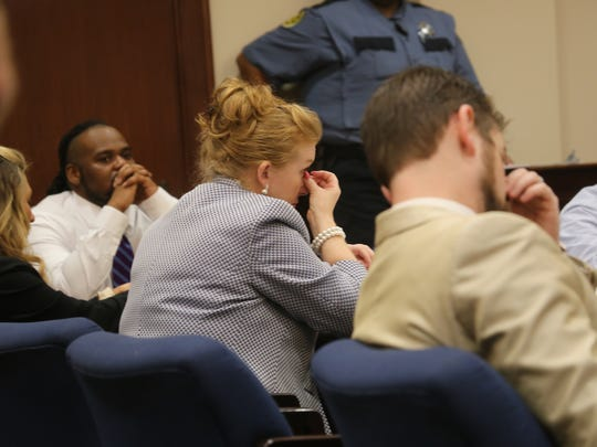 Kevin Forman watches his defense attorney Stephanie Ritchie-Mize in a Montgomery County courtroom on Aug. 21, 2019.