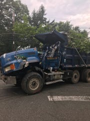 The dump truck involved involved in an Aug. 14 crash into a home on Shelly  Road in South Brunswick