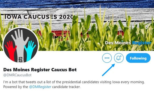 Get instant alerts when candidates are in Iowa.