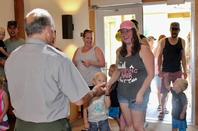 Meghan Boertman from Norton Shores was Sleeping Bear Dunes' 50 millionth visitor on Monday, Aug. 19, 2019.