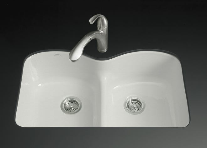Cast-iron kitchen sinks are not only trendy; they're also considered a green choice by many.