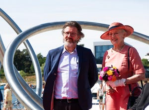 Denmark's Queen Margrethe attends the inauguration of the city of Soenderborg's new waterfront, in Southern Jutland, Denmark, Friday July 26, 2019.