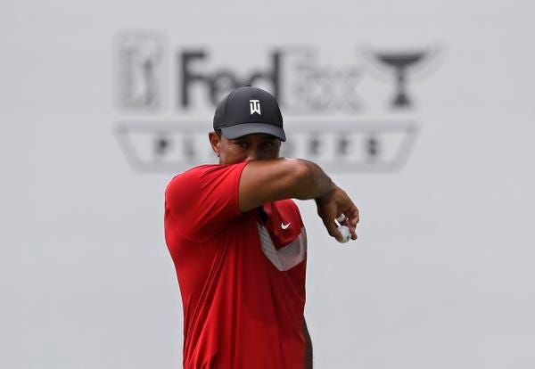 Tiger Woods told prospective players for the Presidents Cup that he wants them to keep playing this fall to stay prepared.