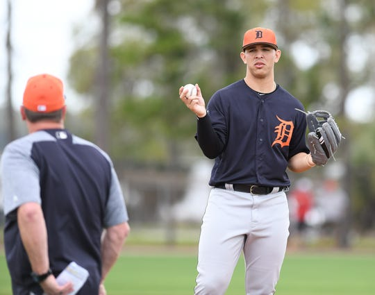 Tigers prospect Franklin Perez has made three trips to the injured list this season.