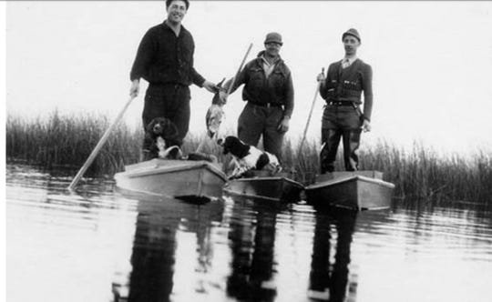 Duck hunters on Rush Lake from a bygone era was taken from a presentation given by Rob McLennan, retired water sources supervisor at Wisconsin Department of Natural Resources.