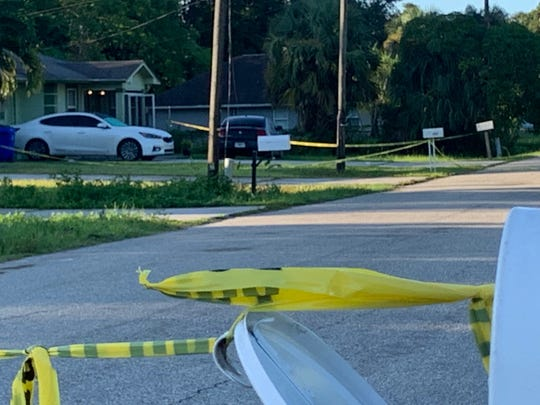 Units from the Fort Myers Police Department had a home on French Street in the Dunbar section of the city cordoned off with crime scene tape Wednesday.