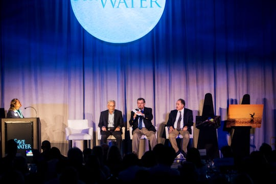 Howard Simon speaks during the Save Our Water Summit on Wednesday. He is spoke along with John Cassani and Barry Rosen on public health