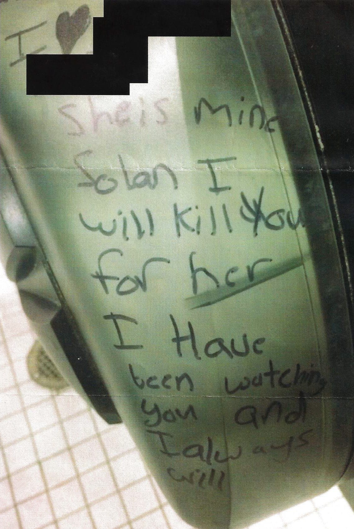 Solan Caskey was threatened via graffiti in the bathroom at his high school. He responded to the threat and was eventually Baker Acted.
