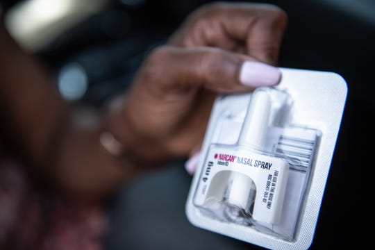 Tina Harris, the Director of Greenville County Outreach at Faces and Voices of Recovery, Greenville (FAVOR), carries Narcan in her car as well as an overdose rescue kit in the event she encounters someone experiencing an overdose.