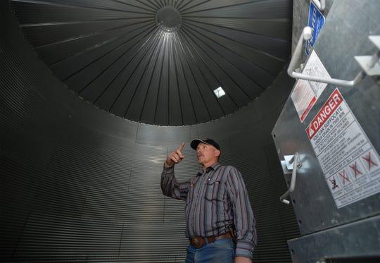 Mitch Konen's largest grain bin holds 12,500 bushels.