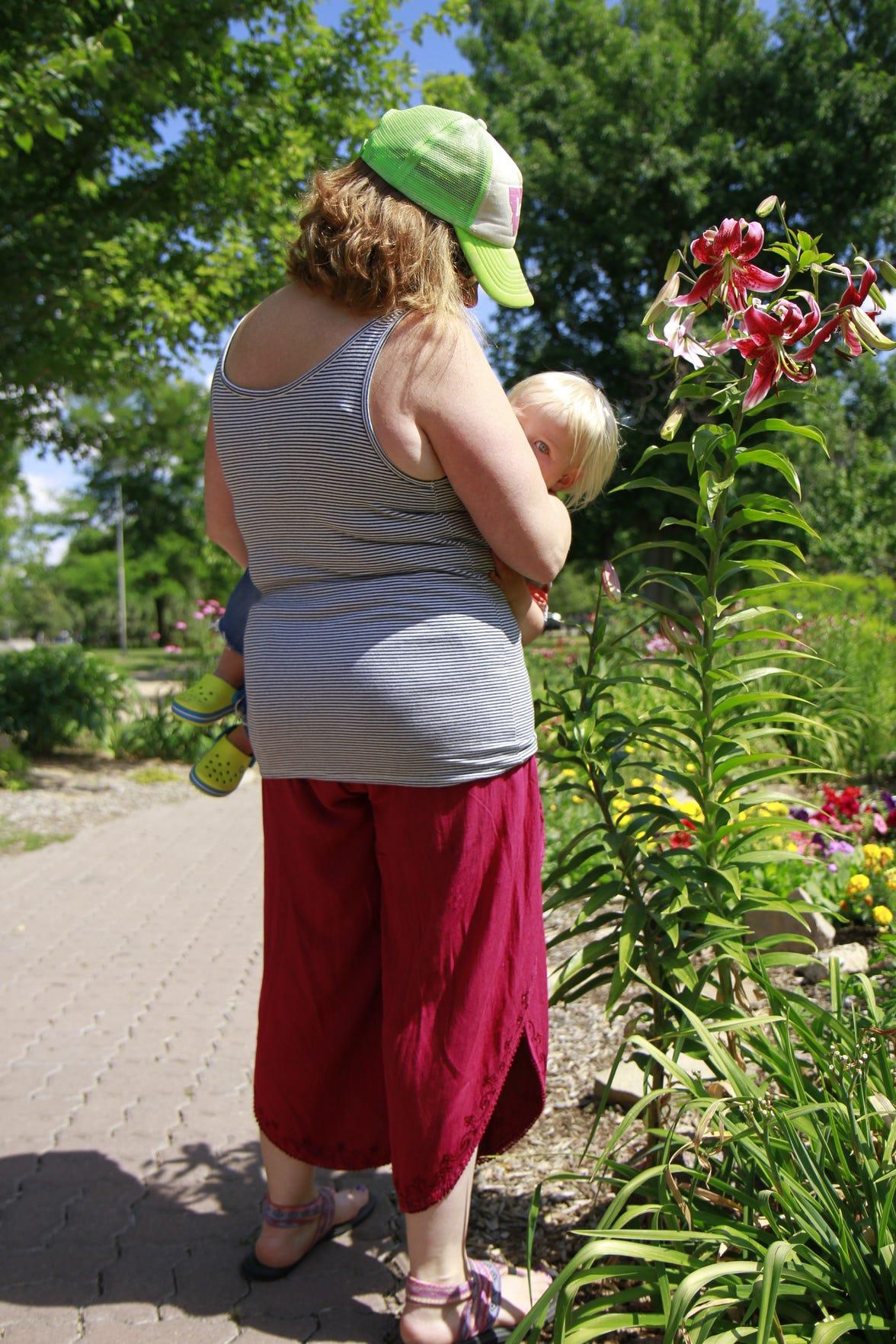 Prairie Krause with her son, Gunnar.