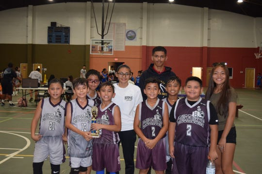 The Crusaders took third place in the Under-10 division of the Guam Youth Basketball Association Tuesday night at the Astumbo Gym.