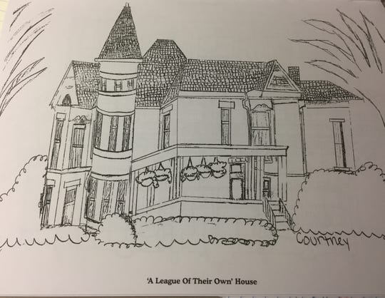 The 'League of Their Own' House on Main Street is another building included in the coloring book of historic Henderson buildings