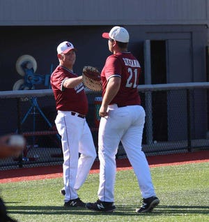 Danville baseball coach Patrick O'Neil was declared cancer-free Tuesday.