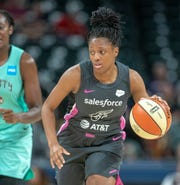 The Fever's Kelsey Mitchell scored a regular-season single-gamefranchise record 38 points and made a WNBA-record nine three-pointers on Sunday.