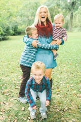 Katy Herbold and her kids.
