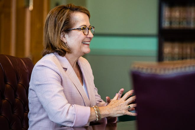 Loretta Rush was reappointed as chief justice of the Indiana Supreme Court on Wednesday, Aug. 21, 2019. Rush, a Lafayette resident, is a former Tippecanoe County judge.