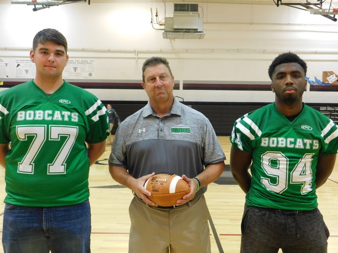 Eunice High seniors Lane Devillier and Jordan Oglesby are ready for the Bobcats as they approach their Class 4A schedule. Coach Paul Trosclair is in his 26th season at Eunice.