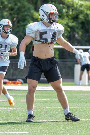 Brighton linebacker Cole Riddle was the Livingston County Defensive Player of the Year in 2018.