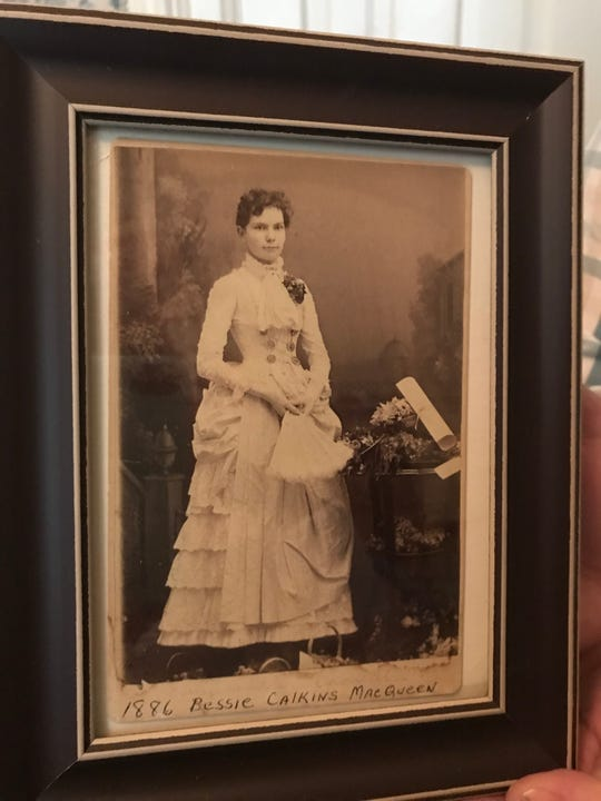 A photo, shown Aug. 20, 2019, of Bessie Calkins MacQueen who left her home to the city of Perry in 1941. The future of the 1879 Victorian-era house is in question.