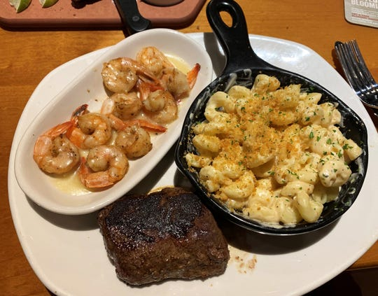 The center-cut sirloin with unlimited shrimp from Outback Steakhouse, South Naples.