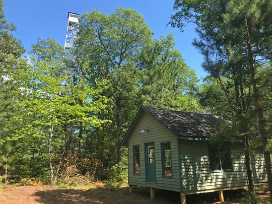 A cabin from Whitefish Lake was moved to the base of the Gordon Fire Tower in August 2019. It's expected to be available to rent beginning in the spring of 2020.