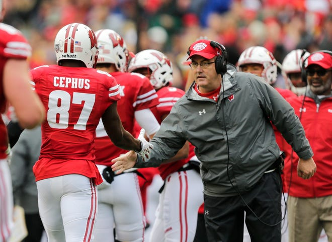 Wisconsin coach Paul Chryst and the rest of the UW coaches and players were happy to have receiver Quintez Cephus back at practice Wednesday.