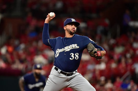 St. Louis-area native and Brewers rookie reliever Devin Williams  achieved two of his boyhood dreams on Tuesday in pitching at Busch Stadium and retiring Yadier Molina.