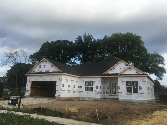 This house is among those being constructed in Menomonee Falls, which has issued the most home-building permits in the Milwaukee metro area so far in 2019.