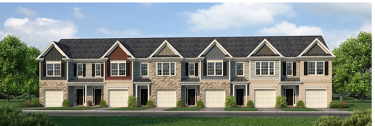This rendering shows what a proposed 282 town homes could resemble for a River Landing subdivision off Northwest Broad Street across from Singer Road. The developer also has plans for 112 single-family houses, so the subdivision total would be 394 homes.