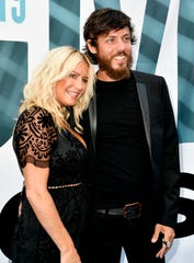 Chris Janson and wife Kelly Lynn on the red carpet at the 13th Annual ACM Honors at the Ryman Auditorium Wednesday, Aug. 21, 2019, in Nashville, Tenn.