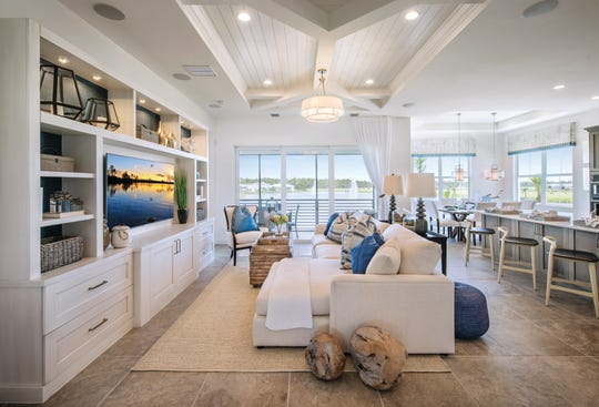 Azure at Hacienda Lakes is offering its final Coach Collection home, a fully furnished, designer-decorated, three-bedroom, three-bath, 2,611-square-foot move-in ready home.