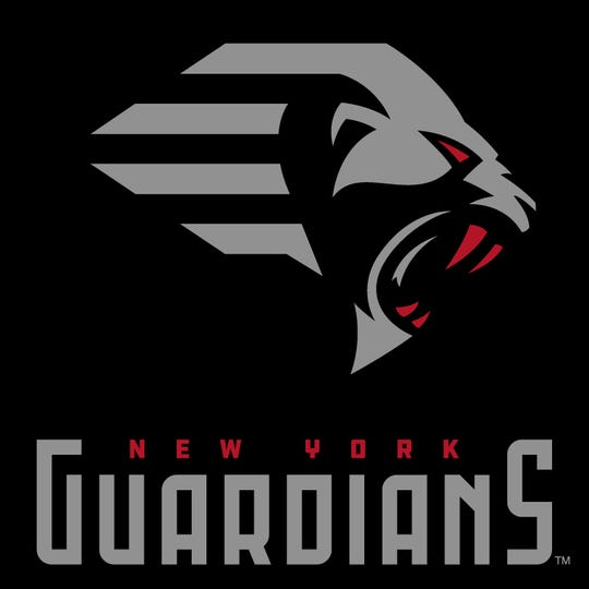 The New York Guardians logo. XFL team begins play in 2020.