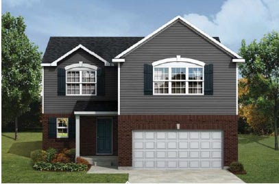 A rendering of the Manistique home design presented to city council