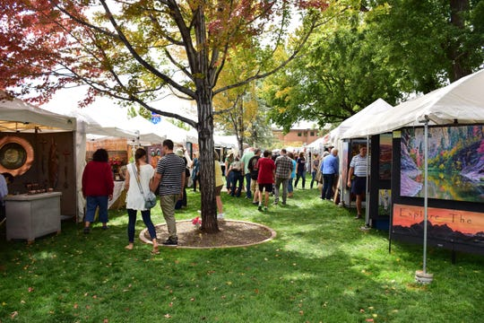 Flagstaff Art in the Park features a wide-ranging selection of arts and crafts, food and music in shady Wheeler Park.