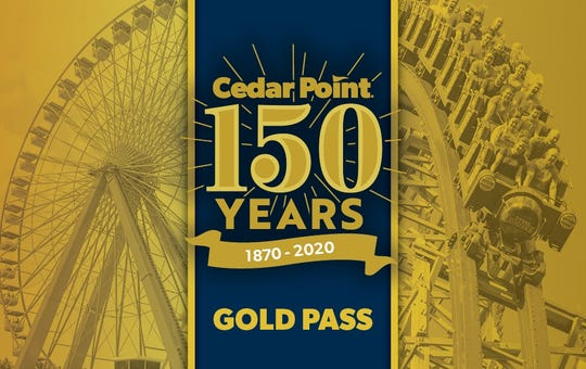 """Cedar Point's new """"Gold Pass"""" offers unlimited visits to the Sandusky park for the 2020 season for $99."""
