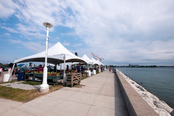 Desmond Landing, which is on a property owned by Acheson Ventures, is home to the Vantage Point Farmer's Market. The property is listed for sale.