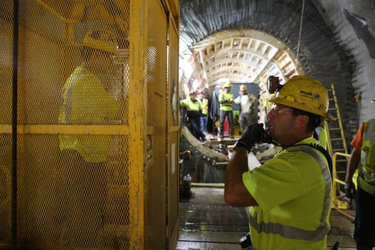 Scenes the Delaware Aqueduct Bypass Tunnel excavation.