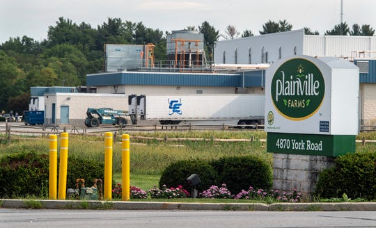 The Plainville Farms poultry processing complex is on York Road near New Oxford, Pa.