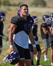 Spanish Springs' player Jackson Laduke listens to instructions during practice on Aug 14.