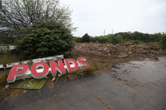 Golden Pond Restaurant and Party House building at 500 Long Pond Road, Greece, has been torn down.