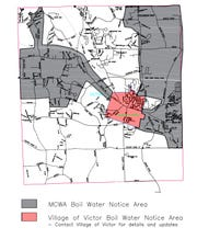 Area of Victor affected by boil-water advisory