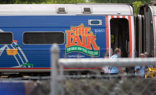 New York State Governor Andrew Cuomo traveled by Amtrak train from Albany to get to the New York State Fair in Syracuse on Wednesday, Aug. 21, 2019.