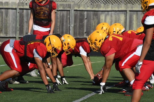Photos from practice at Palma school ahead of the 2019 season. Aug. 21, 2019.