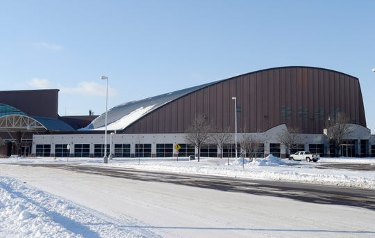 Exterior of the Sioux Falls Arena.