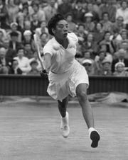 Tennis great Althea Gibson graduated from Florida A&M University in spring 1953. In 1957, she made history as the first black Wimbledon champion.