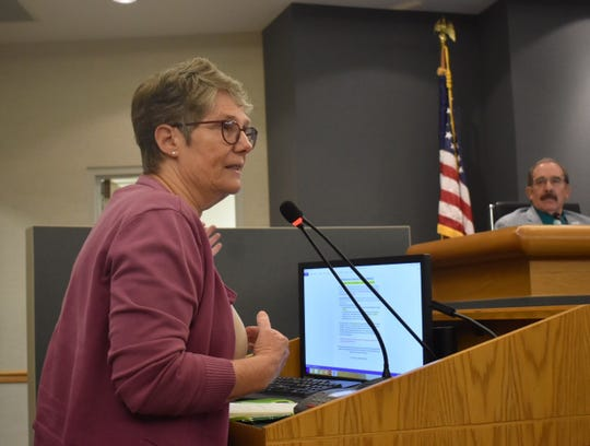 Mary Anne Van Zuyle was one of dozens of speakers who addressed the Conejo Valley Unified School district board in a seven-hour meeting Tuesday. She emphasized the importance of HIV prevention education.